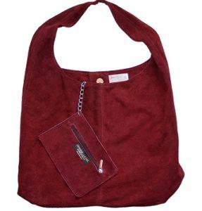 bolso bandolera de ante rojo comprar online
