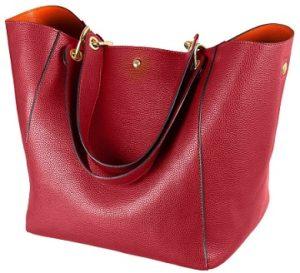 bolso de cuero rojo outlet online