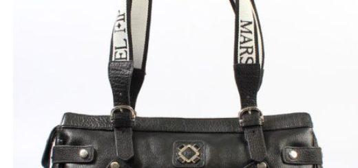 bolso negro de piel marsan barato
