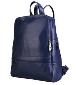 mochila de cuero azul comprar online