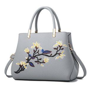 bolso con flores bordadas comprar online