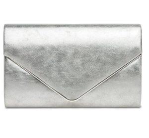 bolso de mano color plata barato