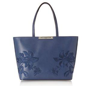 bolso de mano guess azul barato