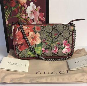 bolso gucci con flores barato