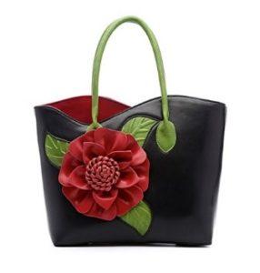 bolso negro con flor comprar online