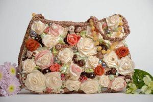 comprar bolsos con flores baratos por internet