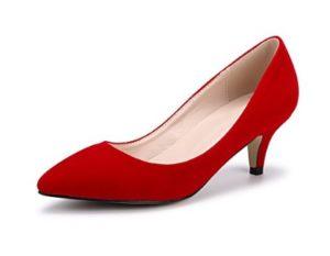 zapatos rojos tacon bajo comprar online