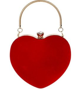 bolso clutch rojo mujer comprar online