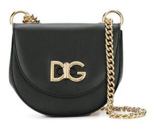 bolso de cuero negro dolce gabanna comprar online