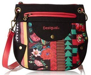 bolso desigual negro y rojo comprar online