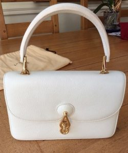 bolso loewe blanco outlet