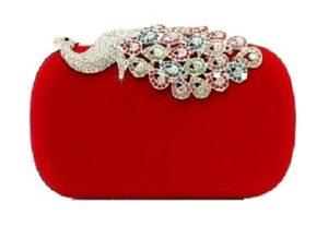 clutch rojo terciopelo comprar online