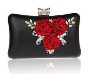 clutch rojo y negro comprar online