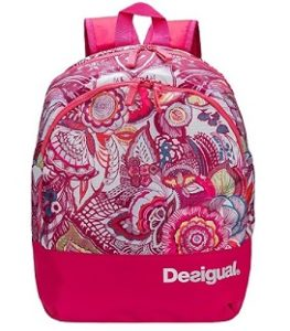 mochila desigual rosa comprar online