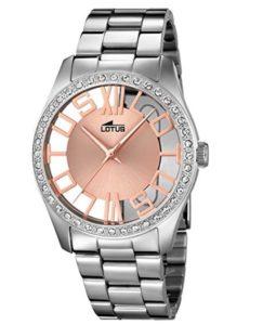 reloj de pulsera lotus mujer plateado barato