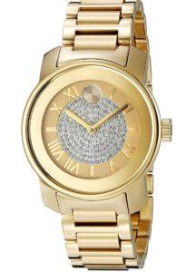 reloj movado mujer bañado en oro barato