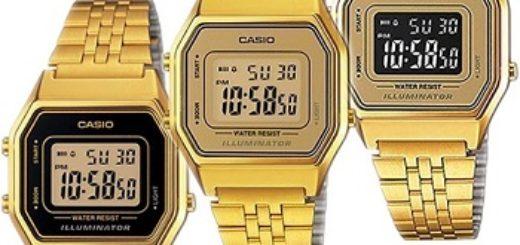 relojes casio dorados mujer baratos