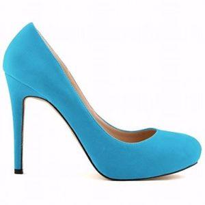 zapatos de tacon azul claro