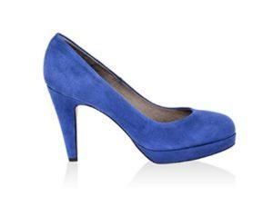 zapatos de tacon azul electrico baratos
