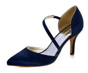zapatos de tacon azul marino baratos online
