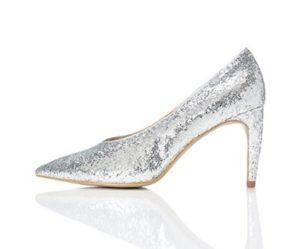 zapatos plateados de fiesta baratos