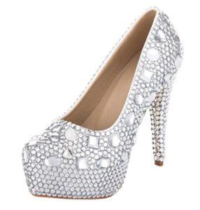 zapatos plateados plataforma comprar online