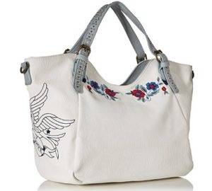 bolso desigual denim flowers comprar outlet