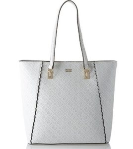 bolso shopper blanco guess