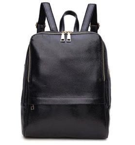 mochila mujer de cuero negra comprar online