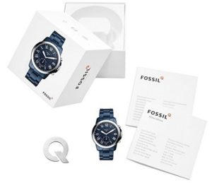 smartwatch fossil mujer azul comprar online