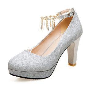 zapato de fiesta plateado comprar online