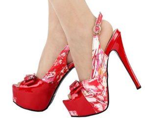 zapatos con plataforma rojos comprar online
