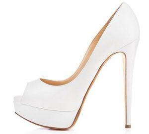 zapatos con plataforma blancos baratos online