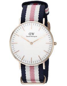 reloj daniel wellington mujer blanco y rosa barato