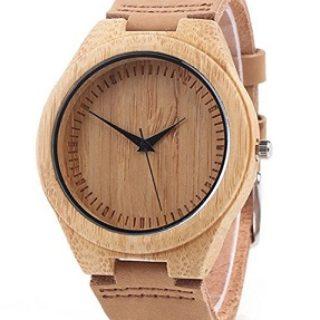 reloj de madera de bambu comprar online