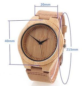 reloj madera de bambu mujer comprar barato