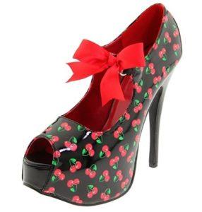 zapatos de tacon mujer cerezas comprar online