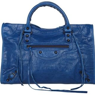 bolso balenciaga de piel azul barato