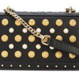 bolso balmain de cuero negro comprar online