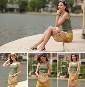 bolso de mano de bambu comprar online