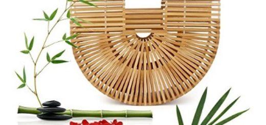 bolso de mano de bambu precio barato