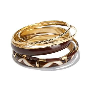 pulseras de metal y resina anne weyburn baratas