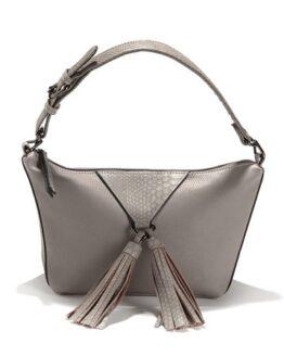 bolso con borlas gris la redoute comprar barato