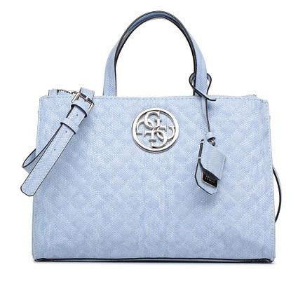 Boutique en ligne 5fd24 b853d Bolso Guess azul G Lux Status Satchel. Descuento del 40%