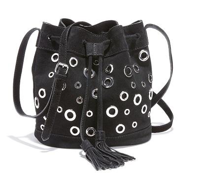 bolsobucket de piel con ojales comprar online