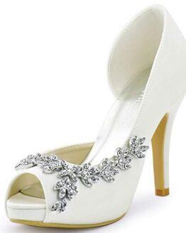 zapatos de tacon blanco de novia comprar baratos