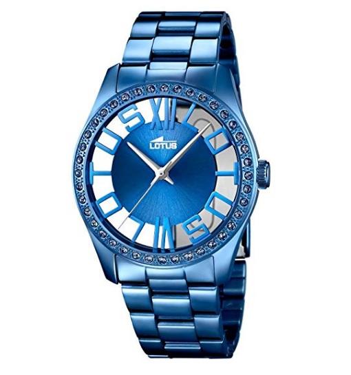 reloj lotus mujer azul comprar barato