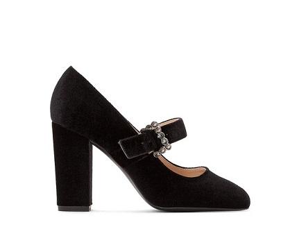 zapatos de tacon tercipelo negros comprar online