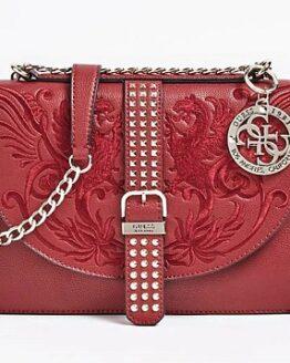 comprar bolso bandolera guess rojo eilenn precio barato