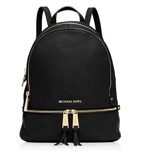 comprar mochila michael kors cuero negro precio mas barato online